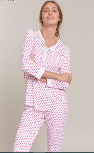 Roller Rabbit Women's Heart Pajamas