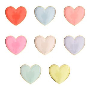Pastel Palette Heart Small Plates Set of 8