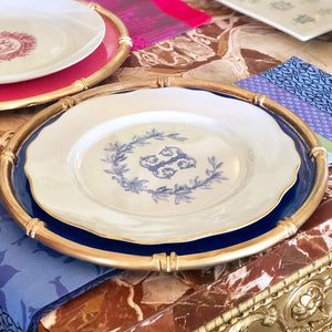 Porcelain Scalloped Rim Dinner Plate