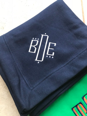 Sweatshirt Blanket with Monogram