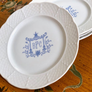 Porcelain Basketweave Dinner Plate