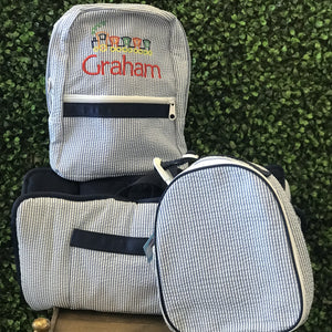 Back to School Set-- Backpack, Lunch Box and Nap Mat