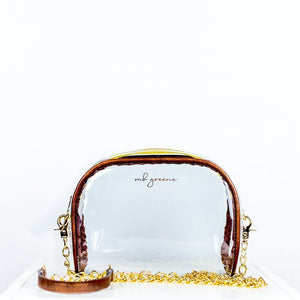 Clear Chain Crossbody Purse by mb greene