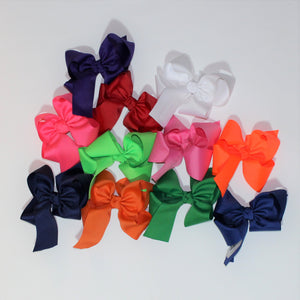 Medium Grogain Bow with Monogram