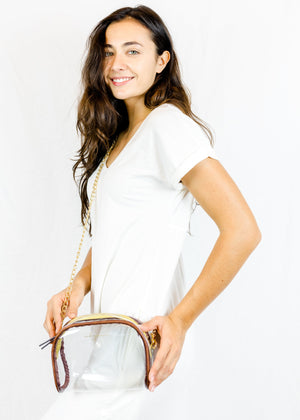 Clear Crossbody Purse by mb greene
