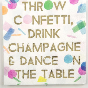 Throw Confetti Cocktail Napkins