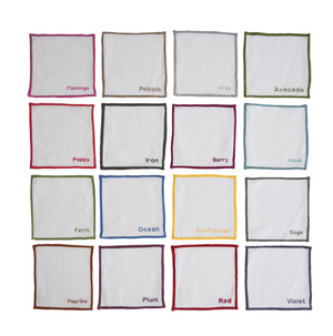 Color Edge Square Cocktail Napkins