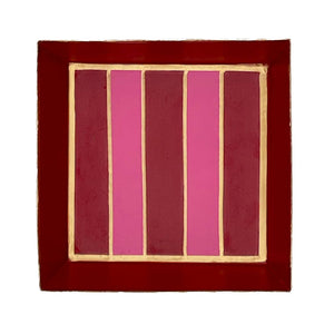 Jaye's Studio - Preppy Stripe Cocktail Napkin Tray - Straight Top
