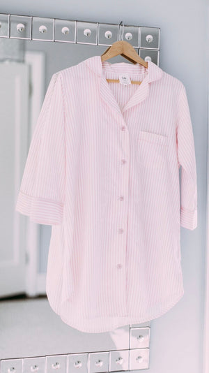 Women's Pink Stripe Sleepshirt
