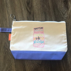 Canvas Accessory Pouch with Custom Children's Artwork