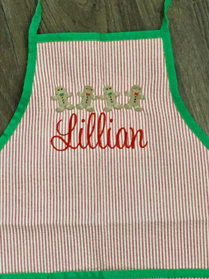 Children's Seersucker Apron Art Smock