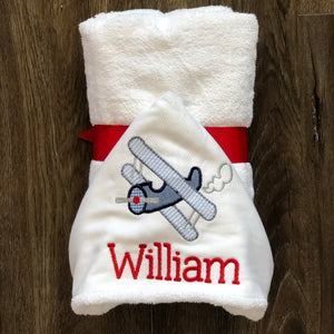 Hooded Towel with Applique