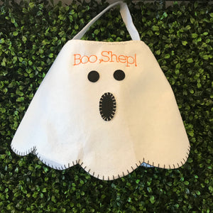 Round Ghost Trick or Treat Bag