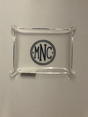 Acrylic Tray with Vinyl Monogram