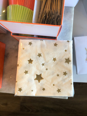 Gold Star Confetti Napkins