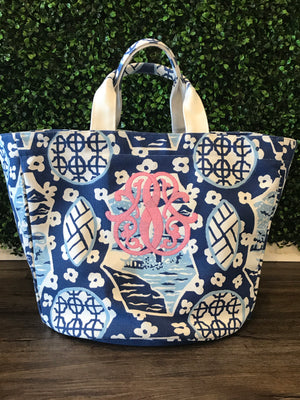 Canton Chinoiserie  Bucket Tote
