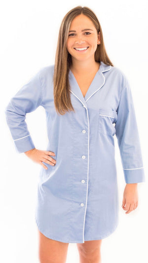 Women's Light Blue Sleepshirt