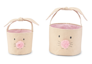 Canvas Bunny Face Easter Basket