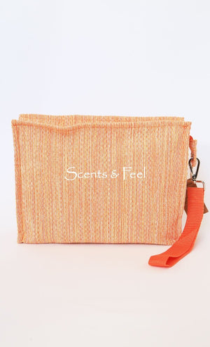 Chine Plastic Lined Pouch with Monogram