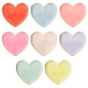 Pastel Palette Heart Large Plates Set of 8