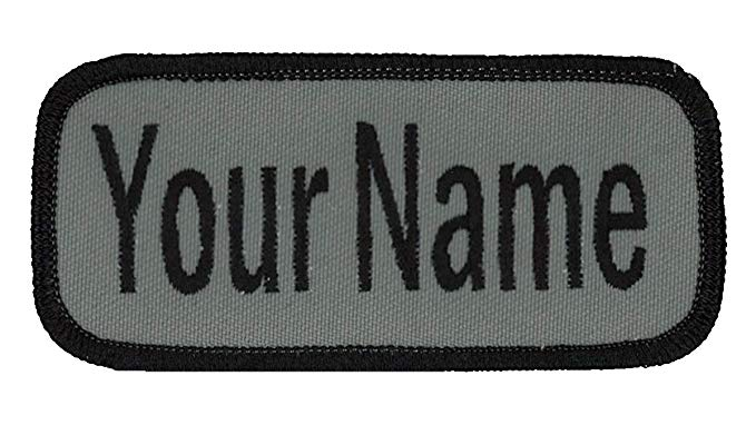 WORKWEAR EMBROIDERED NAME PATCH