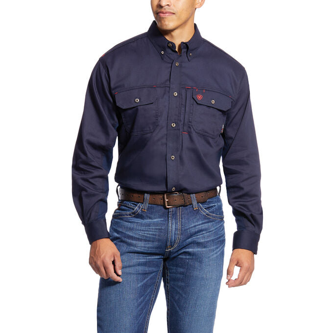 Ariat FR Men's Navy Vented Work Shirt 10019062
