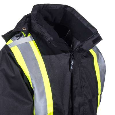 Viking Professional® Black Insulated Journeyman FR Rip Stop Jacket 3907FRWJ