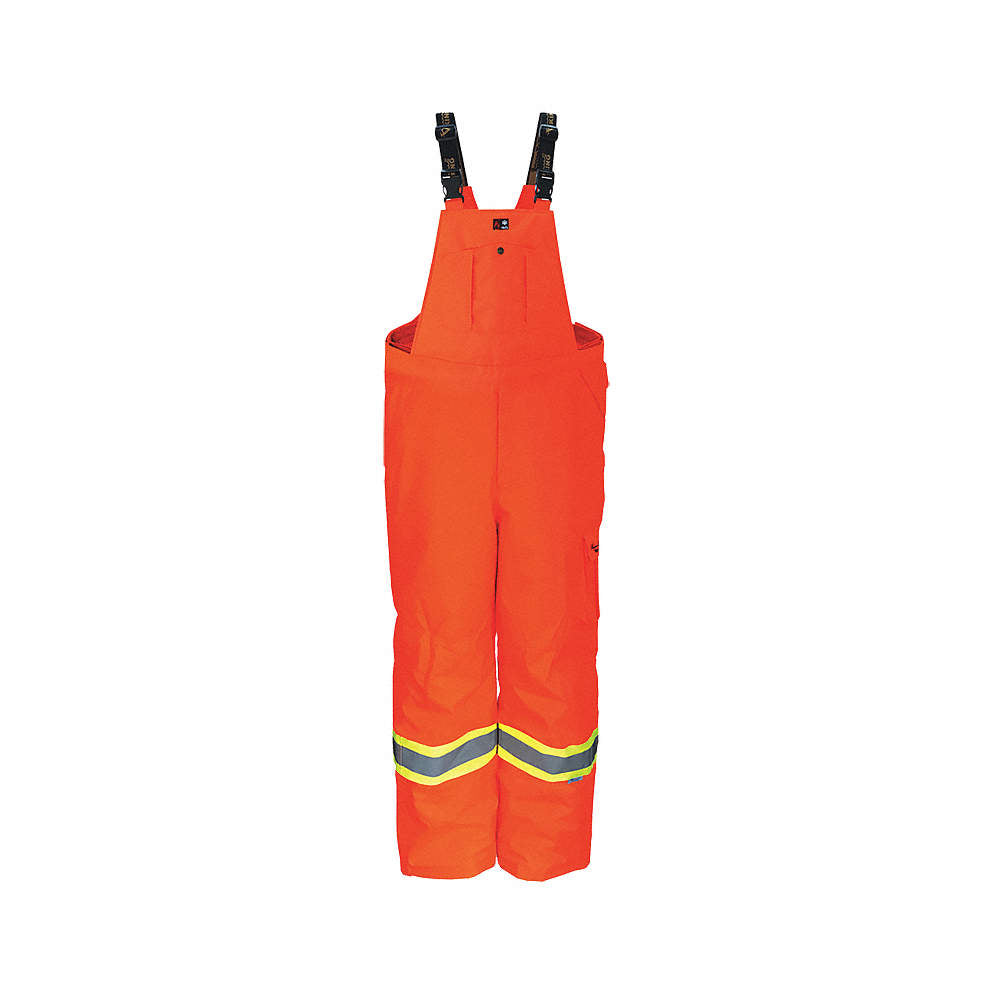 Viking Professional Orange Freezer Insulated Journeyman Rip-Stop FR Overalls 3957FRPO