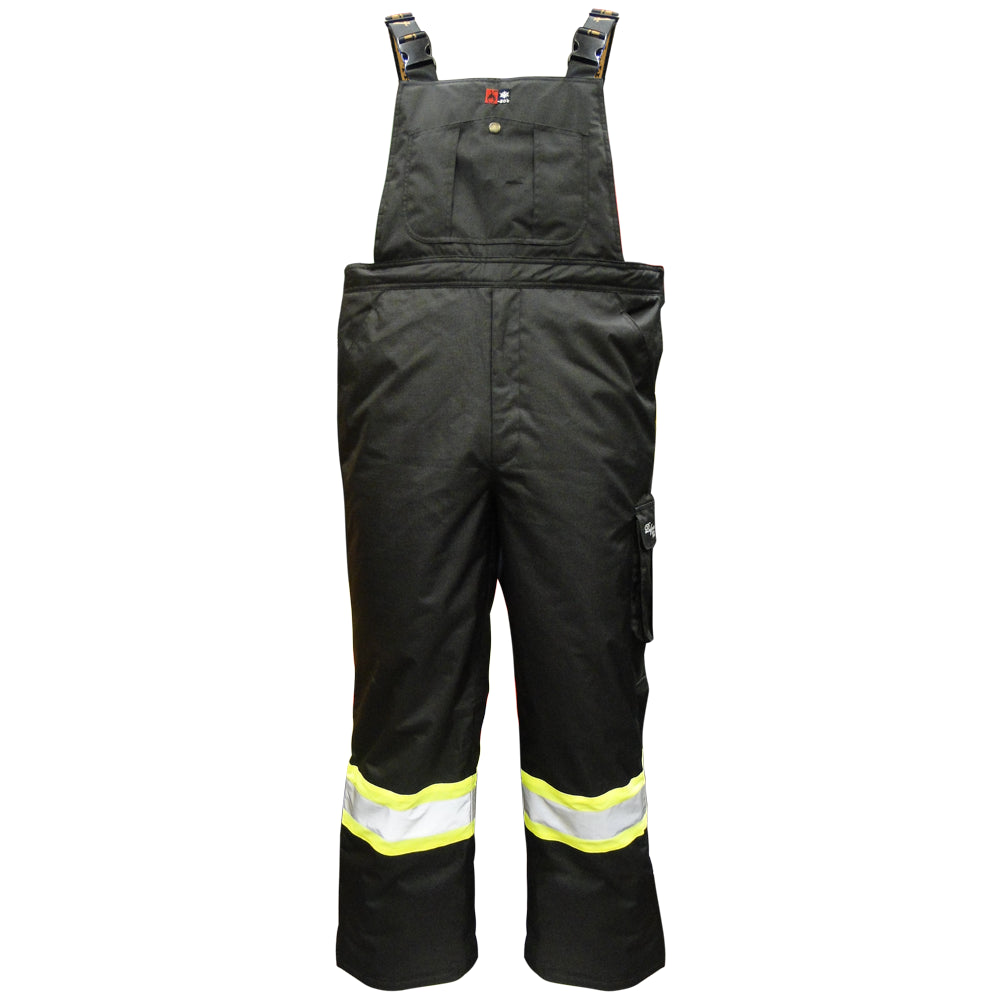 Viking Professional Black Freezer Insulated Journeyman Rip-Stop FR Overalls 3957FRP