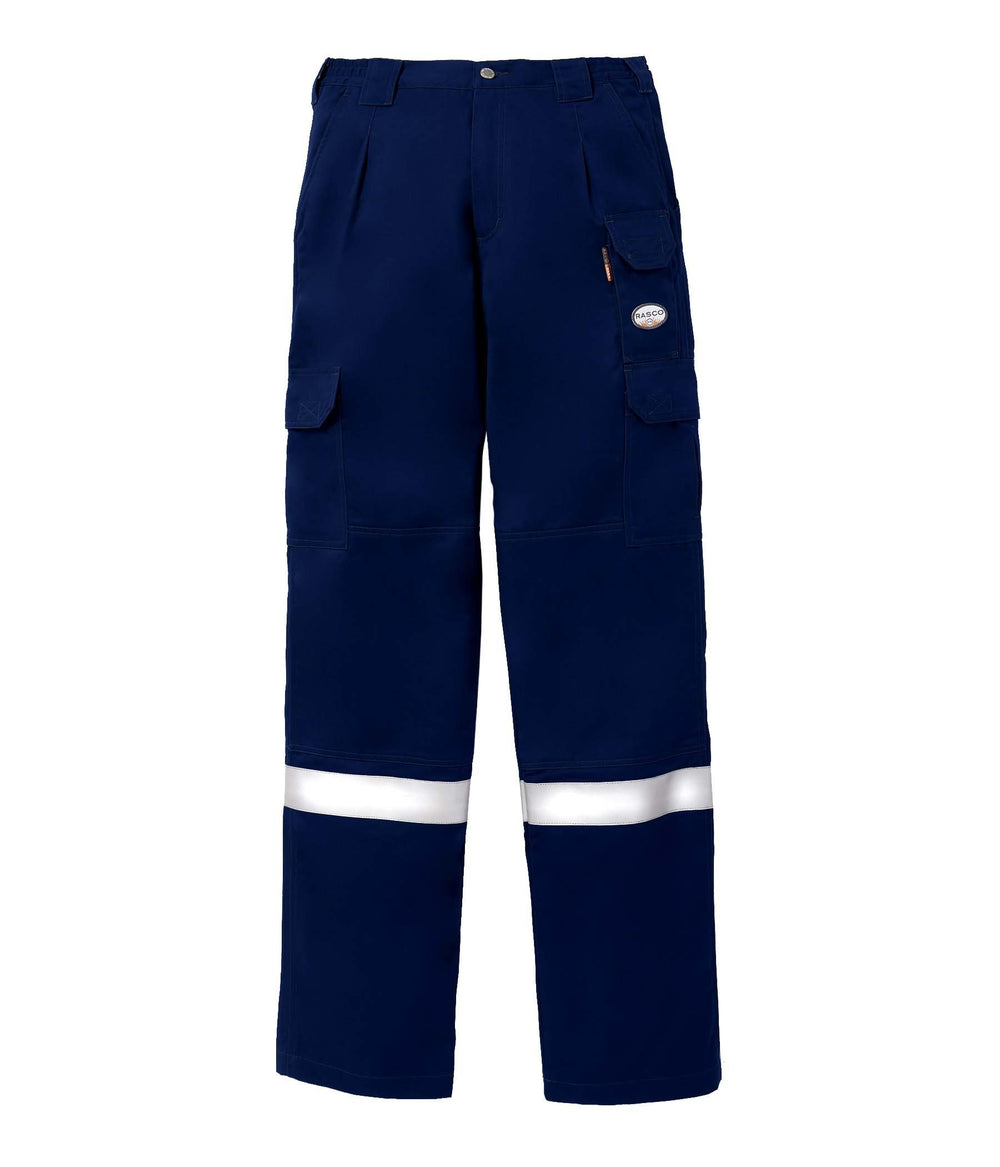 Navy Blue FR 7 Pocket Field Pants With 2'' CSA Silver Reflective Tape