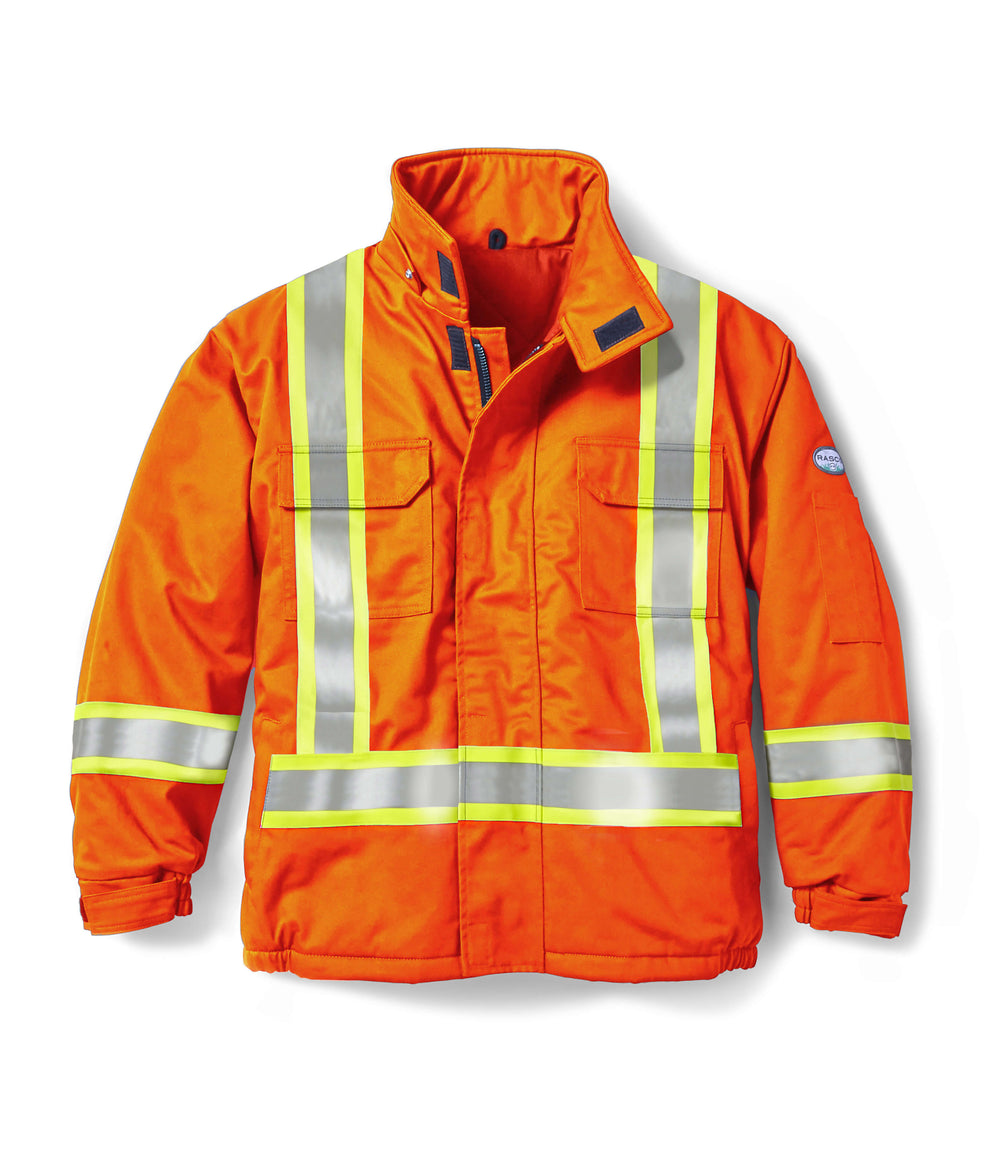 Hi Vis Orange FR Bomber Jacket with 4