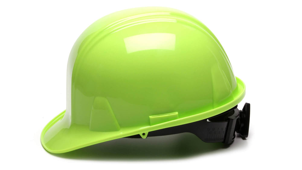 Hi Vis Lime SL Standard Hard Hat 4 Point