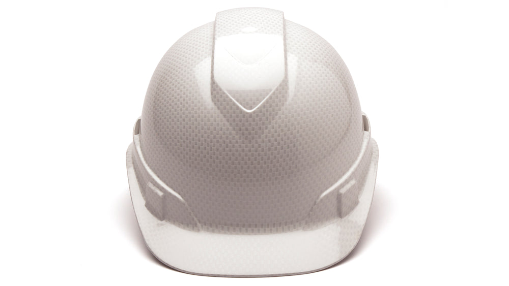 Shiny White Graphite Vented Ridgeline Standard Hard Hat