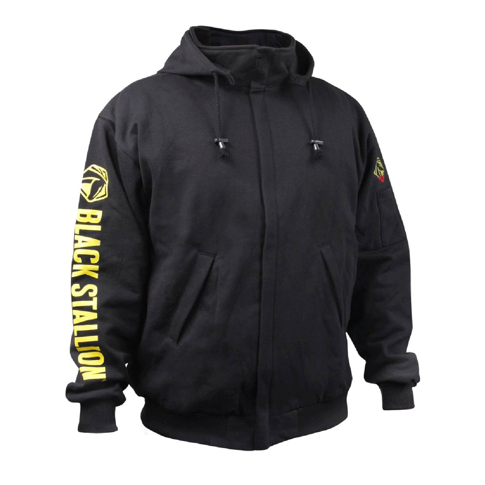 Black Stallion JF1331 Black TruGuard 200 FR Zip up Hooded Sweat Shirt