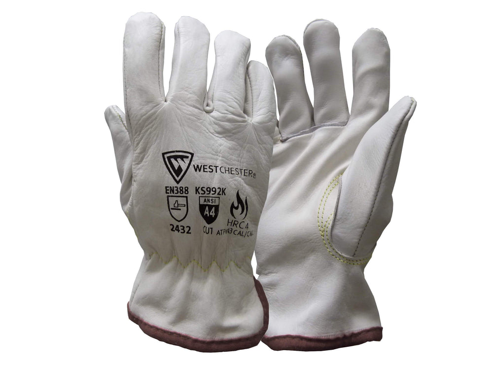 West Chest Leather Cut Resistant Driver Glove