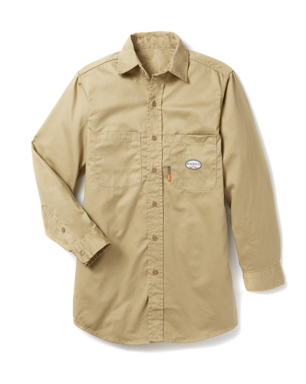 Khaki Long Sleeve FR Uniform Shirt