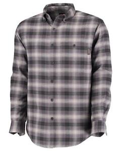 Wolverine FR Charcoal Carbon Lightweight Plaid Twill