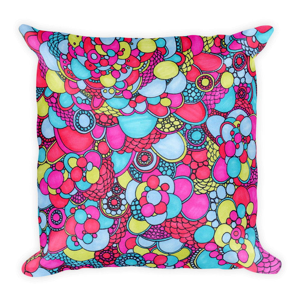 Square Pillow - Bubbles