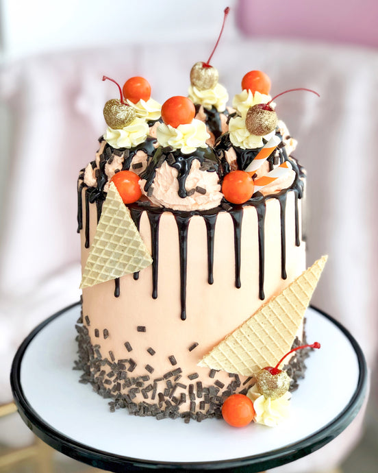 Orange Chocolate Sundae Cake