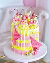 Load image into Gallery viewer, Pink Banana Split Sundae Cake