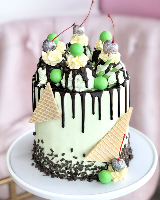 Mint Chocolate Sundae Cake