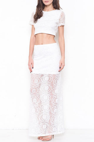 Organza Crop Top - White