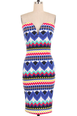 Chevron Tube Dress- FINAL SALE