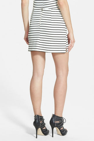 Textured Striped Skirt