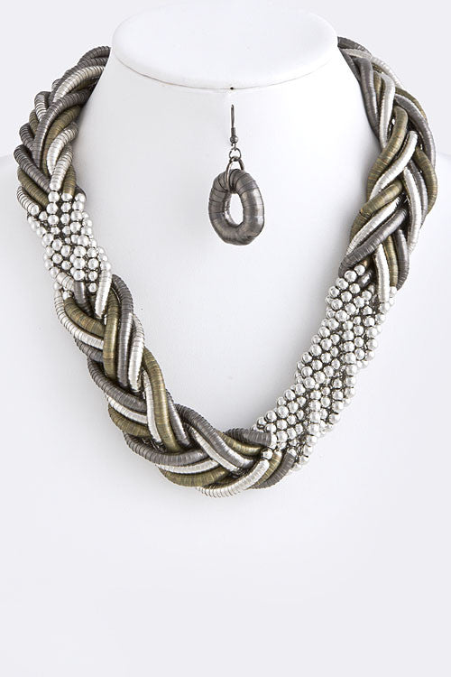 Braided Necklace Set