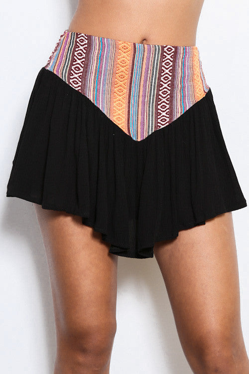 Tribal Mini Skirt - FINAL SALE