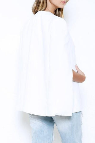 Cape Blazer - White