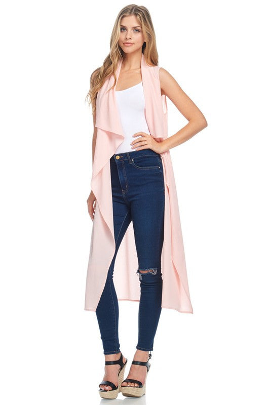 Sheer Short Sleeve Duster - Blush
