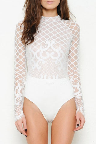Laced Long Sleeves Bodysuit (more colors)