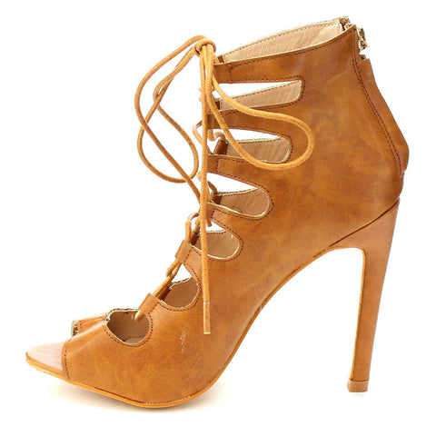 Behave Lace Up Heels (more colors)-FINAL SALE